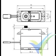 Servo digital Savox SW-1211SG, waterproof HV, 71g, 18Kg.cm, 0.08s/60º, 6V-7.4V