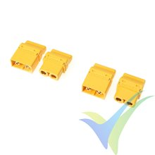 G-Force RC - Connector - XT-60PT - Gold Plated - Male + Female - 2 pairs