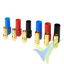 Conector XT150 G-Force, metalizado oro, macho y hembra, 3 colores, 3 pares