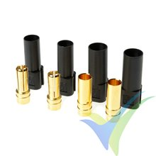 G-Force RC - Connector - XT-150 - Gold Plated - Male + Female - Black - 2 pairs
