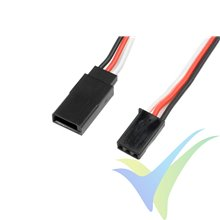 Prolongador cable de servo Futaba 15cm, 0.33mm2 (22AWG) 60 venillas, G-Force