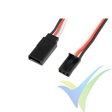 G-Force RC - Servo Extension Lead - Futaba - 22AWG / 60 Strands - 30cm - 1 pc