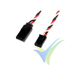 Prolongador trenzado silicona cable servo Futaba 10cm, 0.33mm2 (22AWG) 60 venillas, G-Force