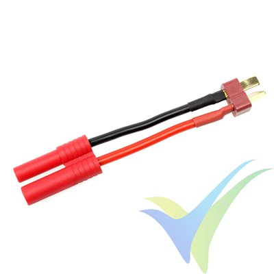 Adaptador de conector Deans macho a HXT banana 4mm, cable silicona 2.08mm2 (14AWG), G-Force