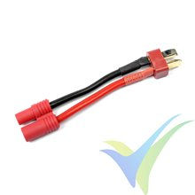 Adaptador de conector Deans macho a HXT 3.5mm, cable silicona 2.08mm2 (14AWG), G-Force
