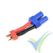 Adaptador de conector Deans macho a EC5 hembra, cable silicona 3.31mm2 (12AWG), G-Force