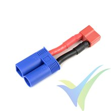 G-Force RC - Power Adapter Lead - Deans Socket <=> EC-5 Plug - 12AWG Silicone Wire - 1 pc