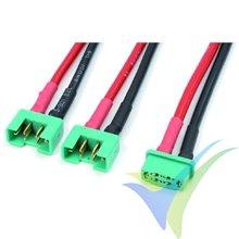 Adaptador de conector MPX hembra a dos MPX macho en serie, cable silicona 2.08mm2 (14AWG), G-Force