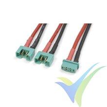 Adaptador de conector MPX hembra a dos MPX macho en paralelo, cable silicona 2.08mm2 (14AWG), G-Force