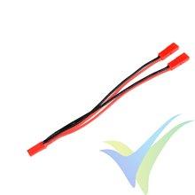 Adaptador de conector JST BEC hembra a dos JST BEC macho en paralelo, cable silicona 0.52mm2 (20AWG) 12cm, G-Force