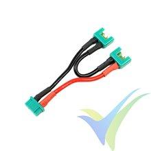 Adaptador de conector MPX hembra a dos MPX macho en serie, cable silicona 2.08mm2 (14AWG) 12cm, G-Force