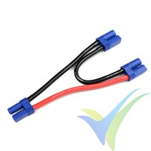 Adaptador de conector EC5 hembra a dos EC5 macho en serie, cable silicona 5.26mm2 (10AWG) 12cm, G-Force