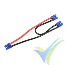 Adaptador de conector EC2 hembra a dos EC2 en serie, cable silicona 2.08mm2 (14AWG) 12cm, G-Force
