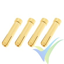 G-Force RC - Connector - 4.0 Female to 5.0mm Male - Gold Plated Adapter - 4 pcs