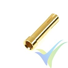 Adaptador de conector banana 4mm hembra a 5mm macho, G-Force, metalizado oro, 4 uds