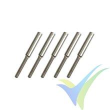 Adaptador kwik link rosca M2 G-Force, para varilla 1.2mm, 5 uds