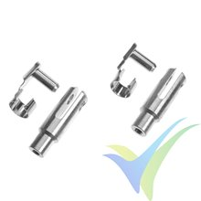 G-Force RC - Aluminium Clevis M3 - Heavy Duty w/ Safety Clip, pin 4mm, 2 pcs