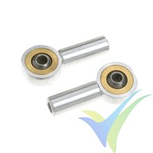 G-Force RC - Aluminium Ball Link - Inner thread M2.5 - Ball for M2 Screws - 2 pcs