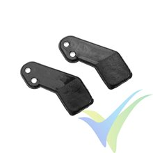 G-Force RC - Nylon Control Horn - 8mm - Dia. 1mm Holes - 2 pcs