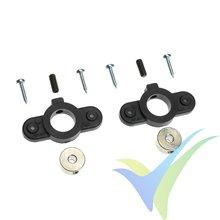 G-Force RC - Wheel Cover Holder - Shaft Dia. 3mm - 2 pcs