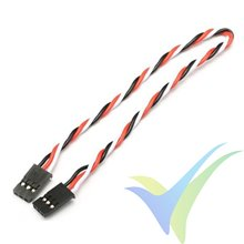 Servo twisted cable extension, male-male, 15cm, 0.13mm2 (26AWG)