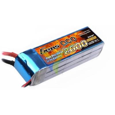 Batería LiPo Gens ace 2600mAh (28.86Wh) 3S1P 60C 241.2g