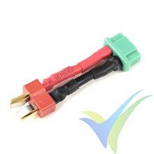Adaptador de conector Deans macho a MPX hembra, cable silicona 2.08mm2 (14AWG), G-Force