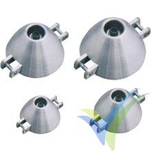 Cono aluminio 50/5mm ventilado Planet-hobby para bipala plegable