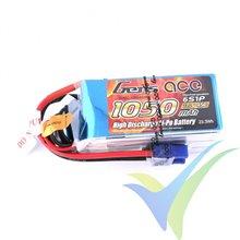 Batería LiPo Gens ace 1050mAh (23.31Wh) 6S1P 45C 180g EC3