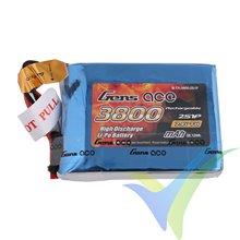 Batería LiPo Gens ace 3800mAh (28.12Wh) TX 2S1P 1C 140g JST-SYP