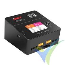 Cargador iSDT D2, 200W, 100-240V AC, 2S-6S, 12A x 2