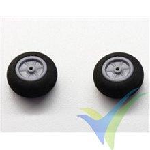 Rueda 25x12x2mm espuma Robbe 52000021, 2 uds