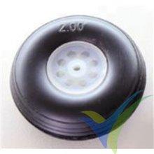 Rueda poliuretano 50x18x3mm Robbe 52000011, 1 ud