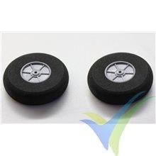 Robbe foam wheel 75x20x3mm 52000030, 2 pcs