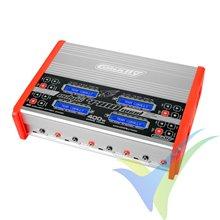 Cargador Team Corally Eclips 4400 Quad, AC/DC, 400W, (4X)1S-6S