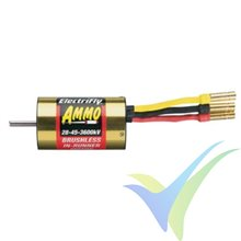 Motor brushless Great Planes Ammo 28-45, 133g, 592W, 3600Kv