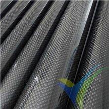 Tubo redondo de carbono Ø25 x 23 x 1000mm, tejido liso 3k, 120g