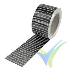 Cinta fibra carbono 50mm unidireccional 250g/m2, rollo 50m