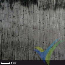 Tela fibra carbono unidireccional no ondulada ST 30g/m2, rollo 50cm x 5m