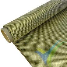 Tela fibra carbono/kevlar 205g/m2, tejido twill, rollo 100cm x 10m