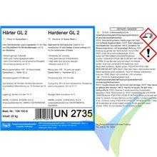 Endurecedor GL2 (210min) para resina epoxi L, botella 0.75Kg