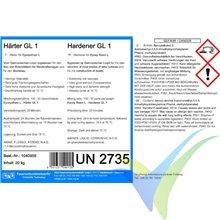 Endurecedor GL1 (30min) para resina epoxi L, botella 0.75Kg