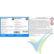 Kit resina epoxi P para molde + endurecedor P (30 min) , 1.22Kg