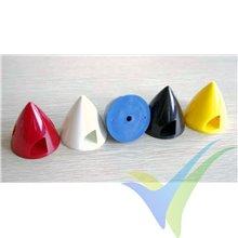 Cono plástico rojo GEMFAN 63mm, base de plástico