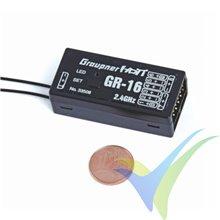 Graupner GR-16 HoTT 2.4 GHz 8 Ch Receiver
