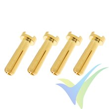 G-Force RC - Connector - 4.0mm - Gold Plated 90 Deg - Male - 4 pcs