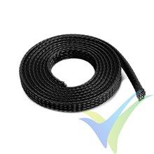 Manguito de malla negro para protección de cables, 6mm, 1m