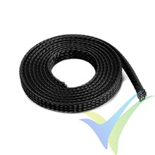 G-Force RC - Wire Protection Sleeve - Braided - 6mm - Black - 1m