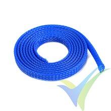 Manguito de malla azul para protección de cables, 6mm, 1m