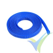 G-Force RC - Wire Protection Sleeve - Braided - 6mm - Blue - 1m